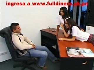 Amazing School Spanish Teen Threesome Uniform