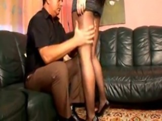 Pantyhose lady works that bushwa all the way free
