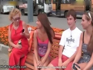 Cute teen babes win horny talking part3