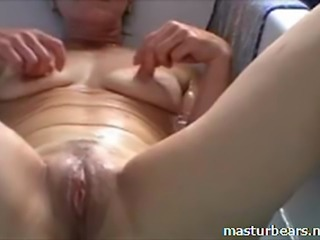 Victoria 49 years. Great fun in the bathroom. Fingering and toying my pussy...