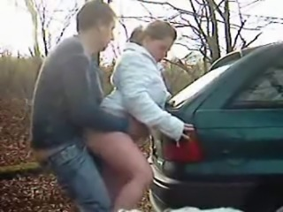 Amateur British Doggystyle Outdoor Teen