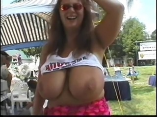Big Tits Mature Outdoor Public