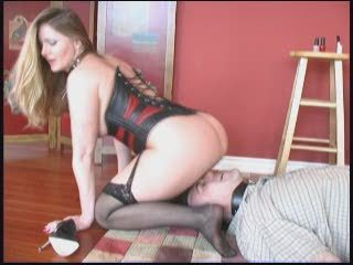 Corset Facesitting Femdom  Slave Stockings
