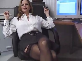 Office Pornstar Secretary Stockings