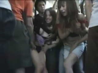 2 Hot Sisters seduced in a crowded Bus Part 1 free