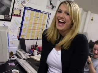 Amateur Blonde Cute Office Teen