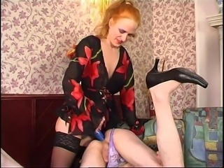 Perverted female domination movie presented by Strapon Power