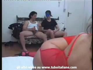 Italian Amateur Orgy part one