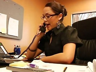 Kristina Rose is the Secretary - Anal sex video -