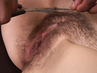 Helena Bush shaving her nasty hairy twat - Fetish sex video -