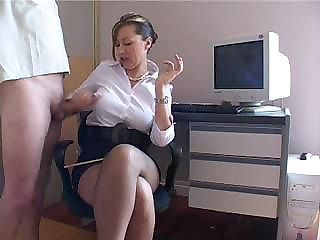 Big Tits Handjob Mature  Office