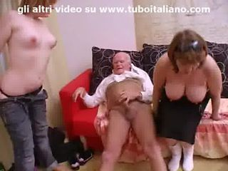 Amateur Chubby Daddy Teen Threesome