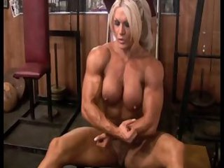 Big Tits Blonde  Muscled