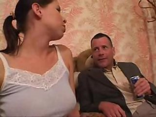Daughter is assfucked by drunk father