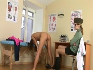 Horny pussy at army gyno exam