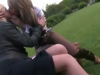 Clothed European Kissing Lesbian Outdoor Teen