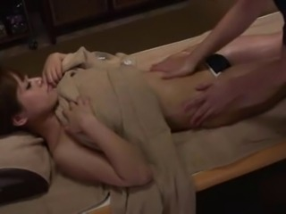 hidden cam massage for Fujiko in japanese massage shop
