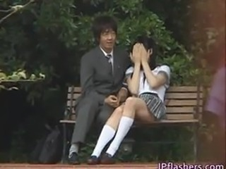 Asian Japanese Outdoor Public Teen Uniform