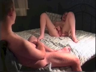 Girlfriend masturbates until I fuck her hard and deep