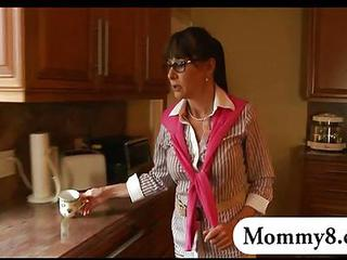 Glasses Kitchen Mature Mom