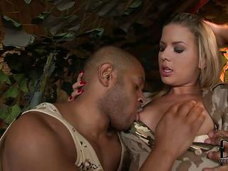Private Rihanna Samuel In Sexy Military Uniform Is An Amazing Blonde....