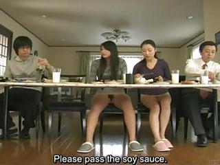 Asian Family Japanese  Mom Teen Upskirt