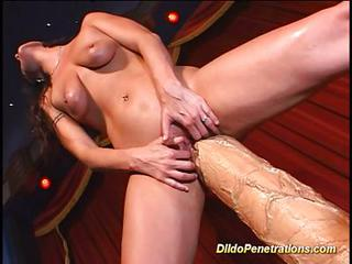 Hard Action Huge Dildo Penetration.