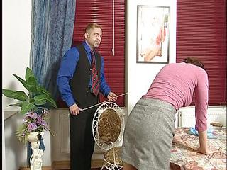 German Teen Maid Punished With A Stick