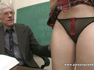 Student Fucks Nasty Old Teacher To Pass Class