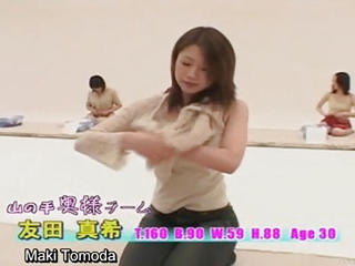 Subtitled Stripping Japan Milfs Change Into Briefs