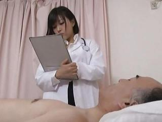 Asian Babe Cute Doctor Japanese Old and Young Uniform