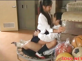 Asian Clothed  Riding School Teen