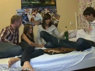 Young Couples Suck Cock After Party