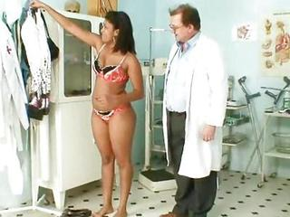 Manuela Darksome Vagina Gyno Speculum Kinky Exam By Old Doctor