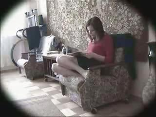 Hidden cam masturbation in a chair good looking great body awsome play