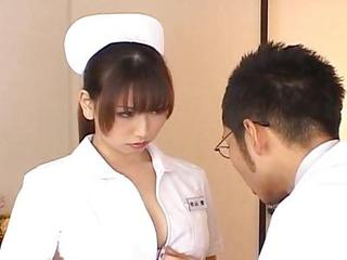 Ai Sayama Appealing Asian Supervision look after Exhibits Off Her Jugs