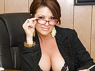 Amazing Big Tits Cute Glasses  Office