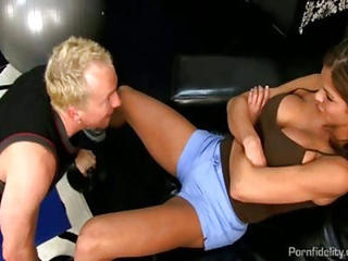 Sexy Fitness Instructor Fucking A Stud