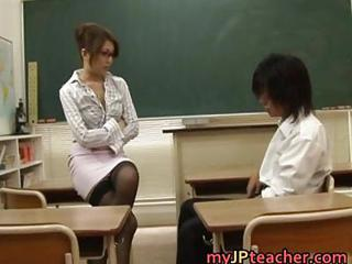 Asian Glasses Japanese  School Skirt Teacher
