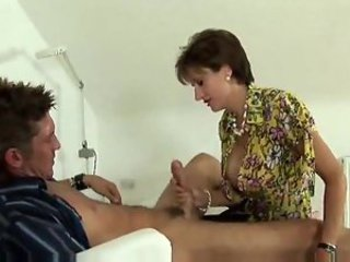 Hot pantyhose slut sucks him and rides him
