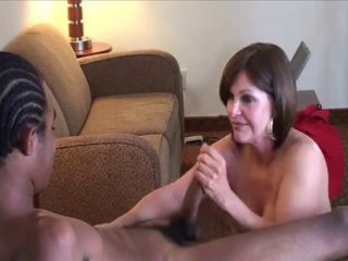 mature white bitch enjoying y...