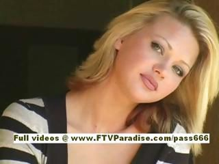 Svetlana cute blonde girl dri...