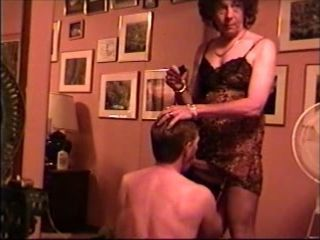 Crossdresser Greets Lover...