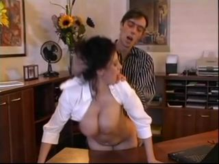 Beatrice busty secretary offi...
