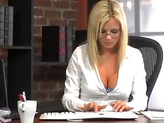 Babe Blonde Cute Glasses Office Secretary