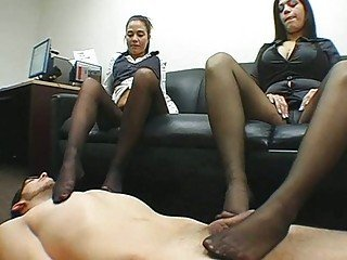 Teen getting her tight fetching pussy