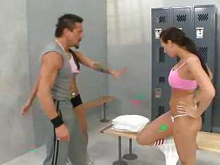 In The Locker Room With Hot Bi-girls!