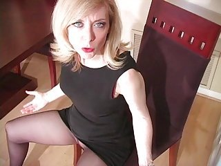 Mature Nina Hartley in pantyhose as never seen part 4 (TheNylonChannel)