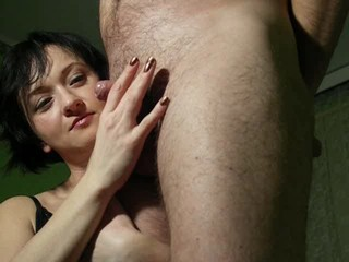 Amateur  Girlfriend Handjob Small cock