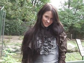 Amazing Brunette Cute Outdoor Teen